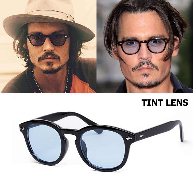 JackJad nueva moda Johnny Depp Lemtosh redondas estilo lente del océano del tinte del partido marca diseño espectáculo gafas De sol