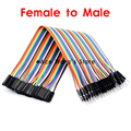Free Shipping 20cm 40P 1P-1P Female to Male DuPont Line jumper Wire Cable In Stock