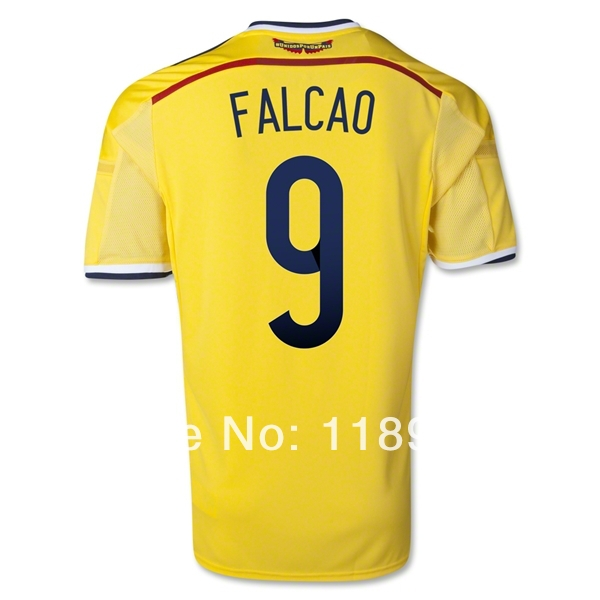 7565285929a ... discount code for cheap women 2014 colombia home soccer jersey falcao  jerseys number 9 football uk ...
