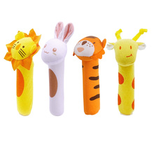 Kids Baby Funny Toys Cartoon Animal Hand Bells Plush Baby Toy Dolls Toys for Children Newbrons