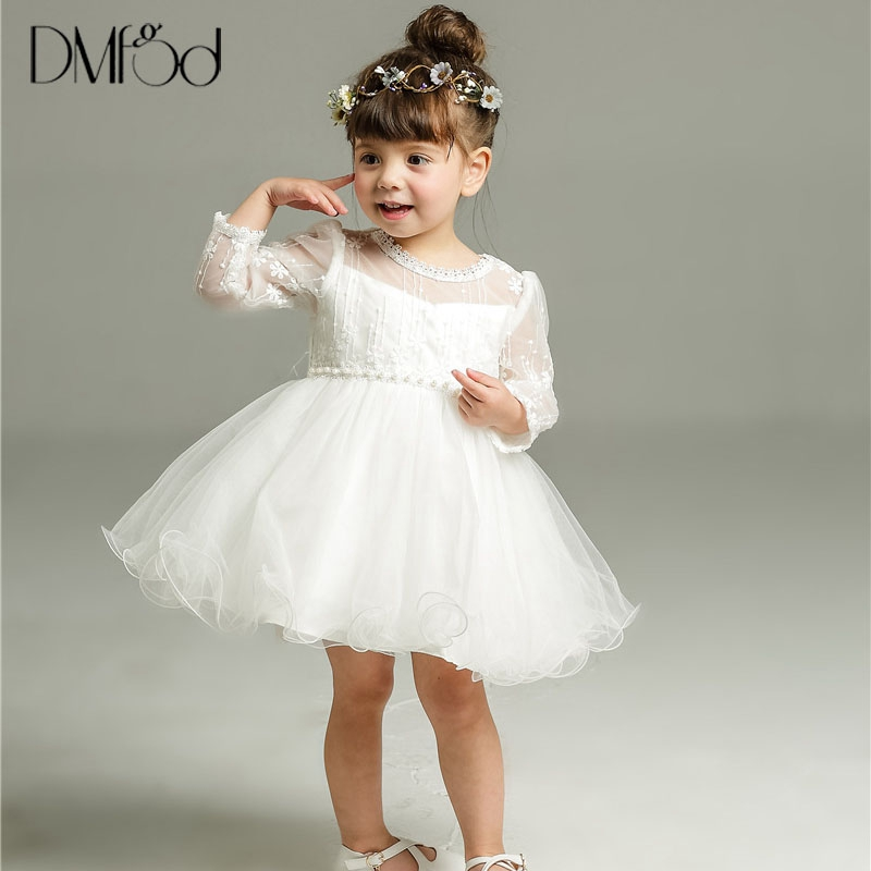 2018 New Baby Girls Party Christening Dress Princess Kids Children Infant Baby Girls Flower Dresses For Quality Lace Dress 8515 muqgew new fashion 2018 children party