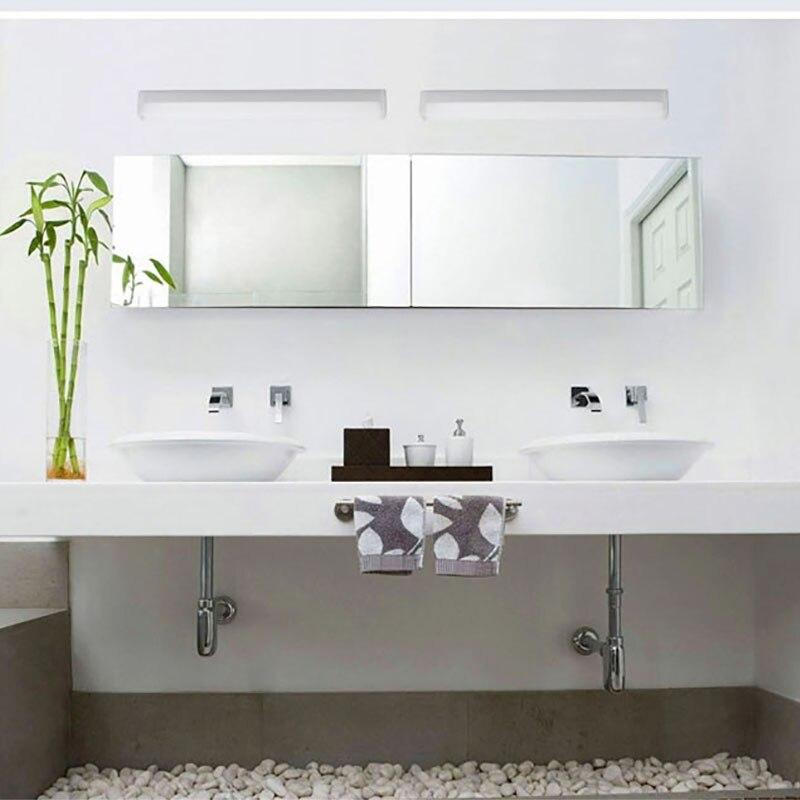ФОТО 9W Length 58cm LED mirror lamp Europe Simplicity modern cupboard lamp wall bathroom Sconce lighting AC90-260V