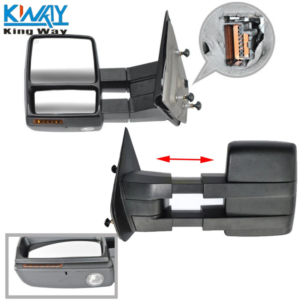 For 07-14 F150 RH Non-Tow Mirrors Power Heated w//Turn Signal Puddle Light