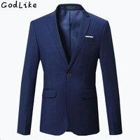 Hot Sale 2018 New Fashion Mens Casual Blazer Single Button Dress Blazer Jacket Men Slim Fit Male Suit Jacket Solid Coat Men 6XL