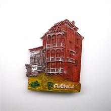 Spain Travel Souvenir Scenery Fridge Magnet Cuenca Cliff 3D Resin ES Magnetic Sticker Souvenirs Home Decoration imanes nevera цена 2017