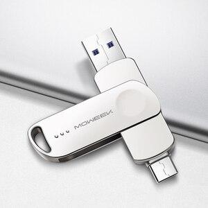 Image 2 - Moweek MF93 USB C فلاش حملة 128 جيجابايت 64 جيجابايت نوع C محرك فلاش USB 32 جيجابايت 16 جيجابايت 8 جيجابايت OTG USB عصا عالية السرعة cle USB 3.0 القلم محرك