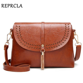 6605f425c REPRCLA nuevo Vintage bandolera bolsas de cuero PU de alta calidad bolso de  hombro borla mujeres bolsos de mensajero pequeño bolso de las señoras