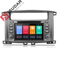 Isudar автомобильный мультимедийный плеер 2 Дин Android 7,1 7 дюймов для TOYOTA/LAND/CRUISER/LC100/100 1998 2007 для Lexus LX470 радио gps
