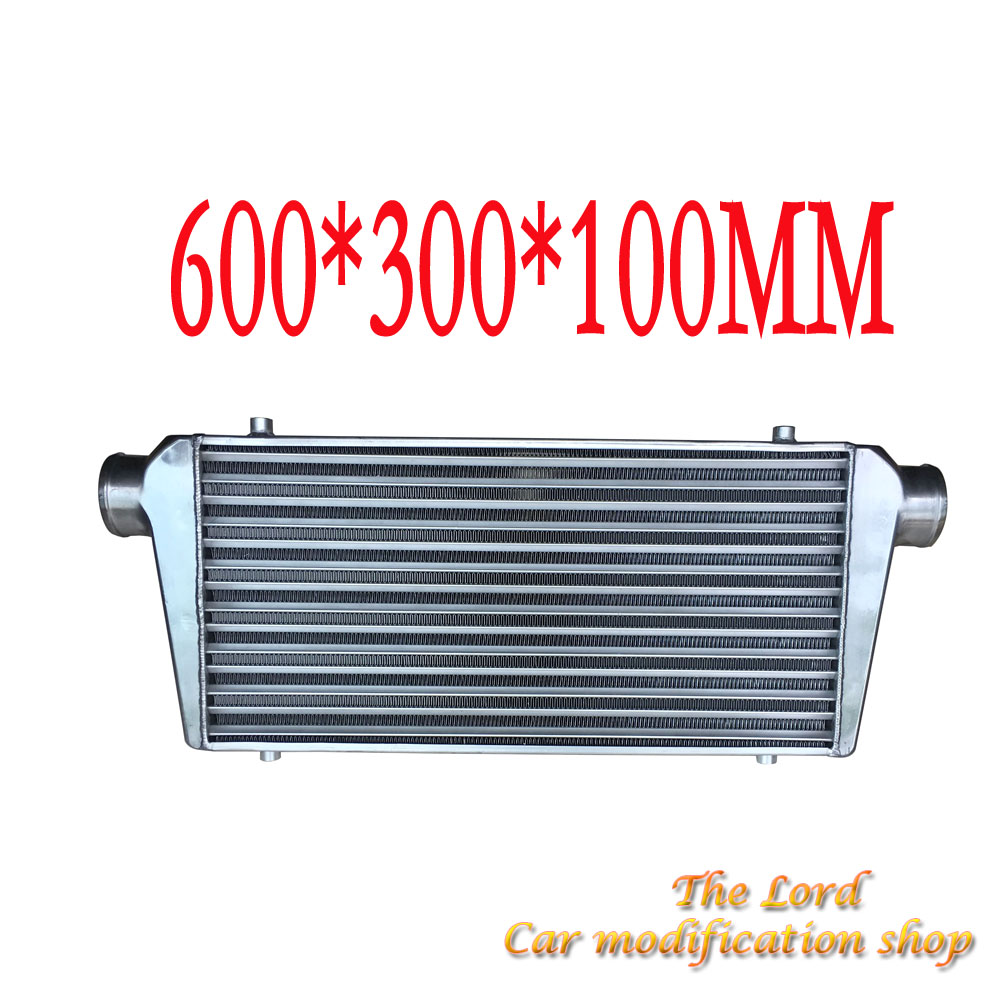 universal aluminium intercooler Car turbo radiator 600*300*100mm OD=3 inch APEXI universal turbo boost intercooler pipe kit 3 76mm 8 pieces alloy piping blue
