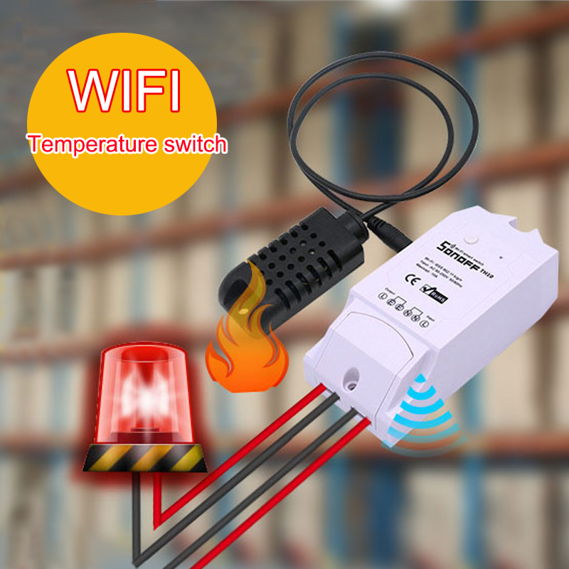 Sonoff TH 10A/ 16ATemperature And Humidity Monitoring WiFi Smart Switch for Smar