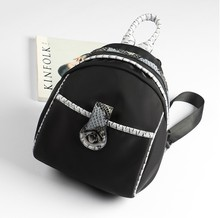 Старинные маленькие женские рюкзак дизайнер высокое качество Оксфорд сумки для девочек мода черный ретро молния женский путешествия рюкзаки