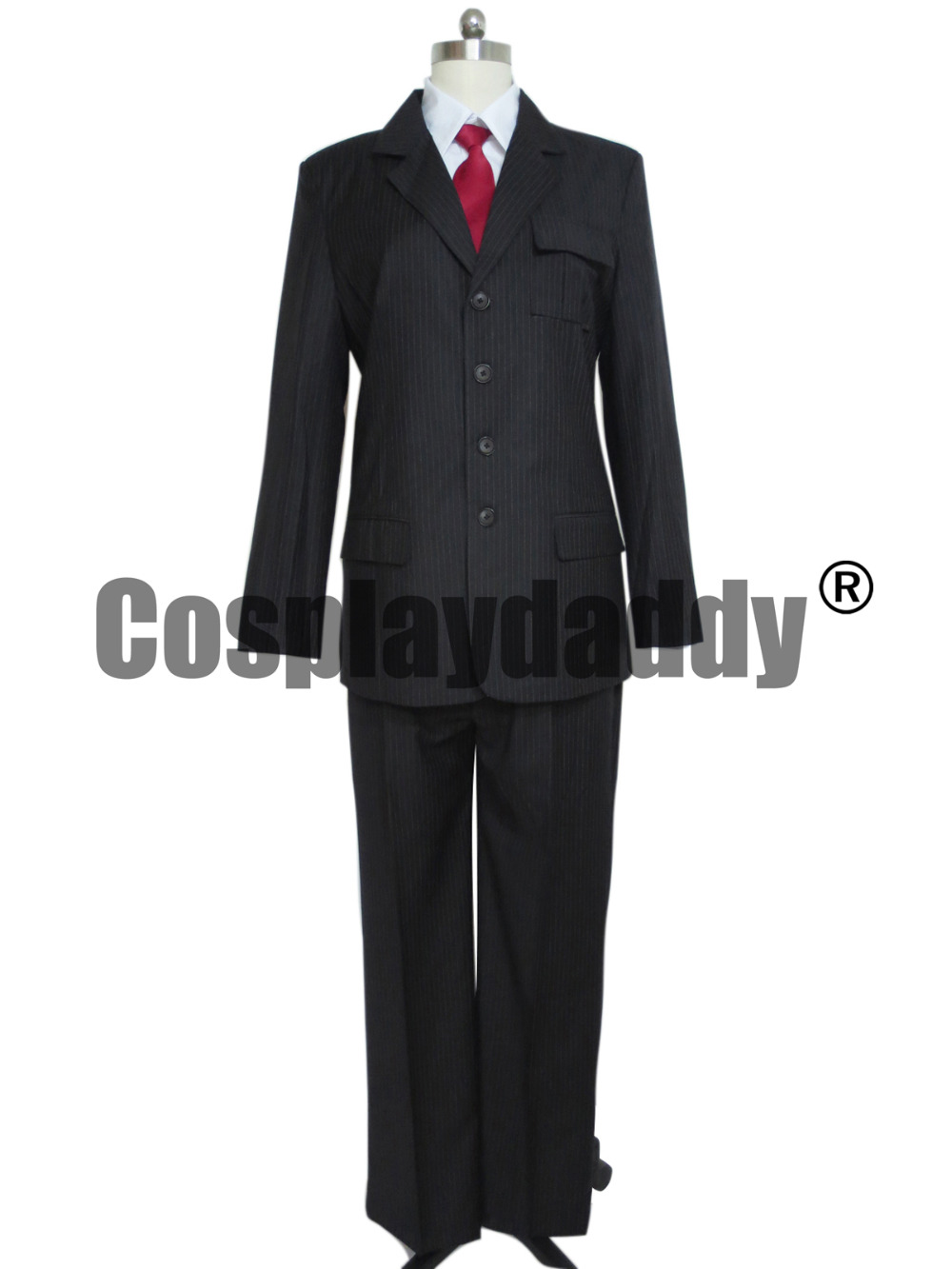 Who is Doctor Dr Brown Pinstripe Suit Cosplay Costume