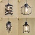 Pingente Lâmpada do vintage E27 Ferro Preto Norte Da Europa Edison Luzes Pingente lustres de sala pendurado lampe lamparas colgantes