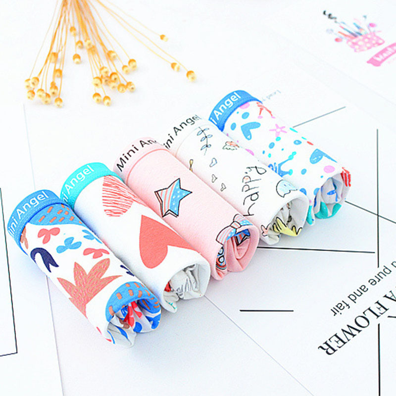QUECOO 3pcs/lots Combo set lovely sexy cartoon printing seamless underwear cotton comfortable womens underwear pants