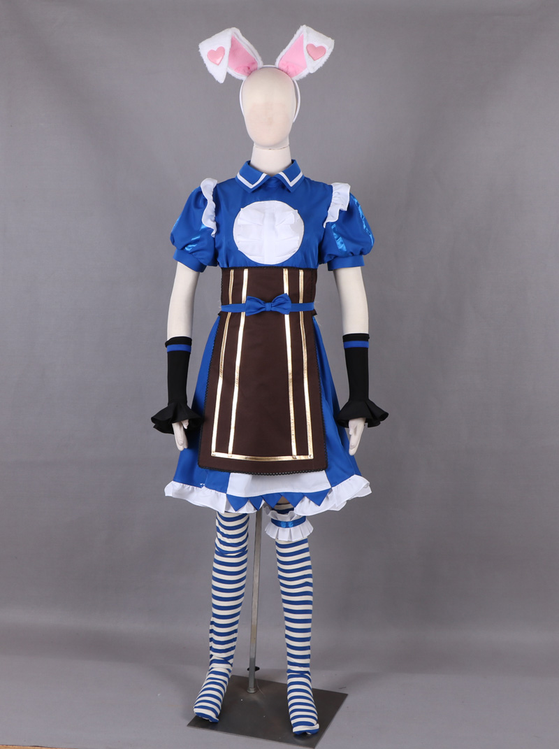 US $58 99 |Free Shipping King of glory LOL Da Ji Alice in Wonderland Maid  Dress Game Cosplay Costume-in Game Costumes from Novelty & Special Use on