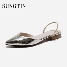 Sungtin Fashion Ballet Flats Women Slip-On Party Shoes Ladies Summer Slip-On Flats Shoes Patent Leather Comfortable Moccasins