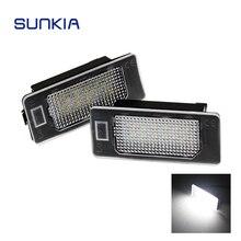 2 шт./компл. SUNKIA Super White 6000 К автомобиля светодиодный номерной знак свет лампы Canbus для BMW E39 E60 E61 e70 E82 E90 E92