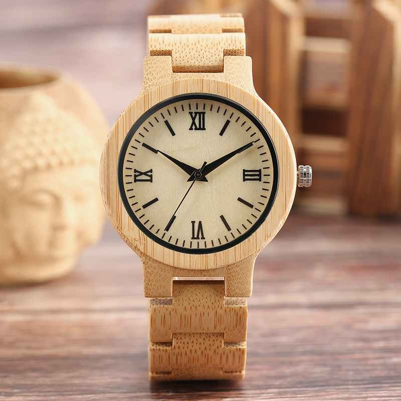 YISUYA Natural Wood Watch Men Handmade Full Wooden Clock Hour 2017 Minimalist Women Fashion Bamboo Bangle Quartz Reloj de madera yisuya creative fashion full bamboo triangular quartz wrist watch men simple unique novel analog hollow bangle nature wood clock