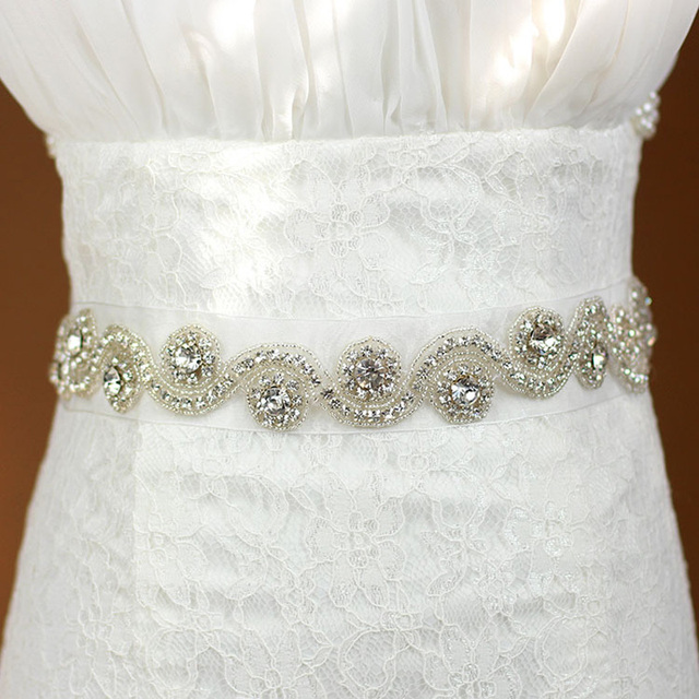 2017 Artificial High Quality Luxurious Exquisite Woman Bridal Sash with Crystal Rhinestone Formal Wedding Gown Belts Accessories