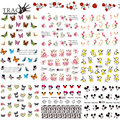 Trancy Simple 1X Nail Water Transfer Sticker Set Art Decoration 2016 Promotion Decal Fashion Tip Women Girl Watermark A291-531