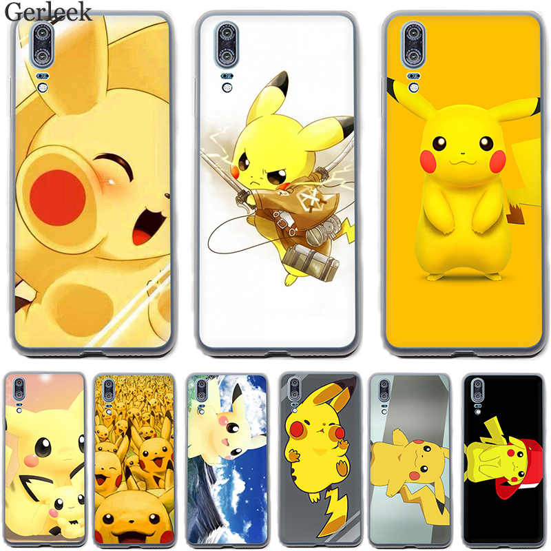 Case Cover For Huawei P30 P9 P8 P10 P20 Lite Plus Pro MINI P Smart Japanese Anime Cartoon Pikachues Hot Printed Hard Cover