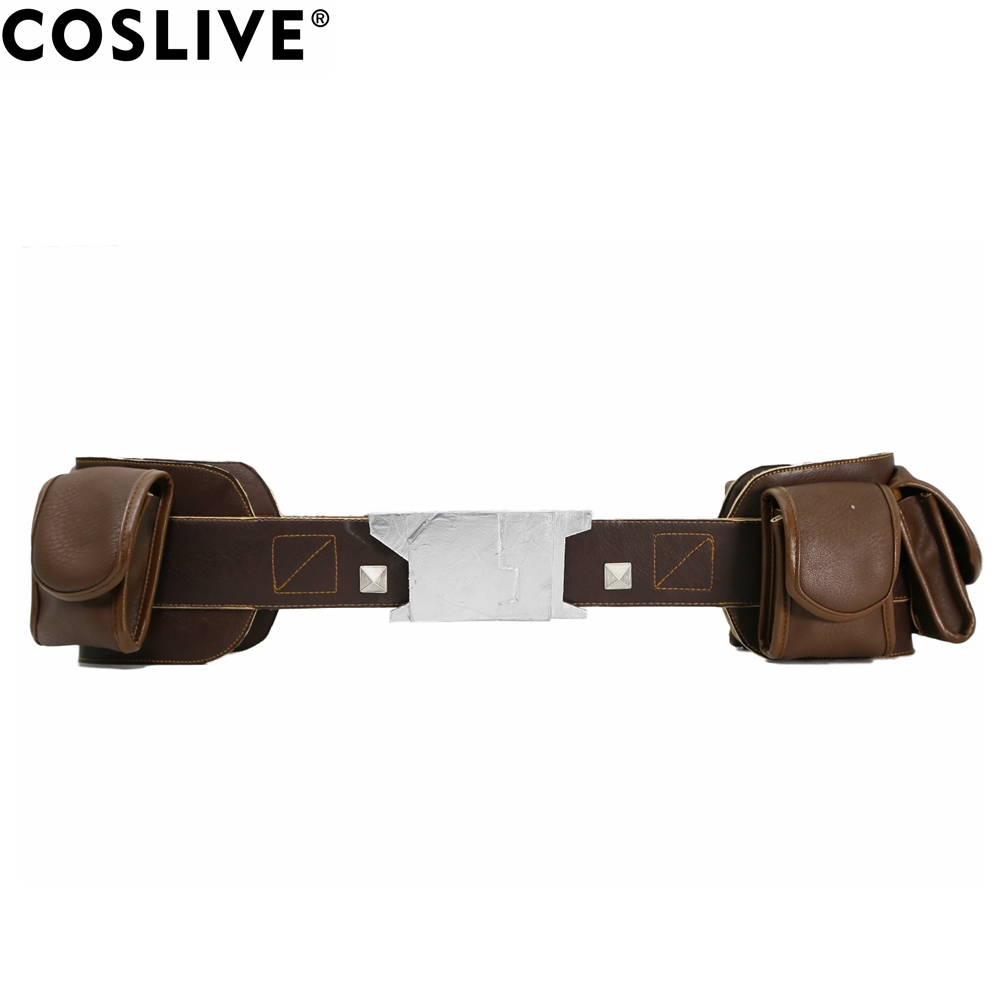 Coslive Captain America Steven Rogers Red PU Leather Belt High Quality Captain America Cosplay Props Brand Sale For Adult