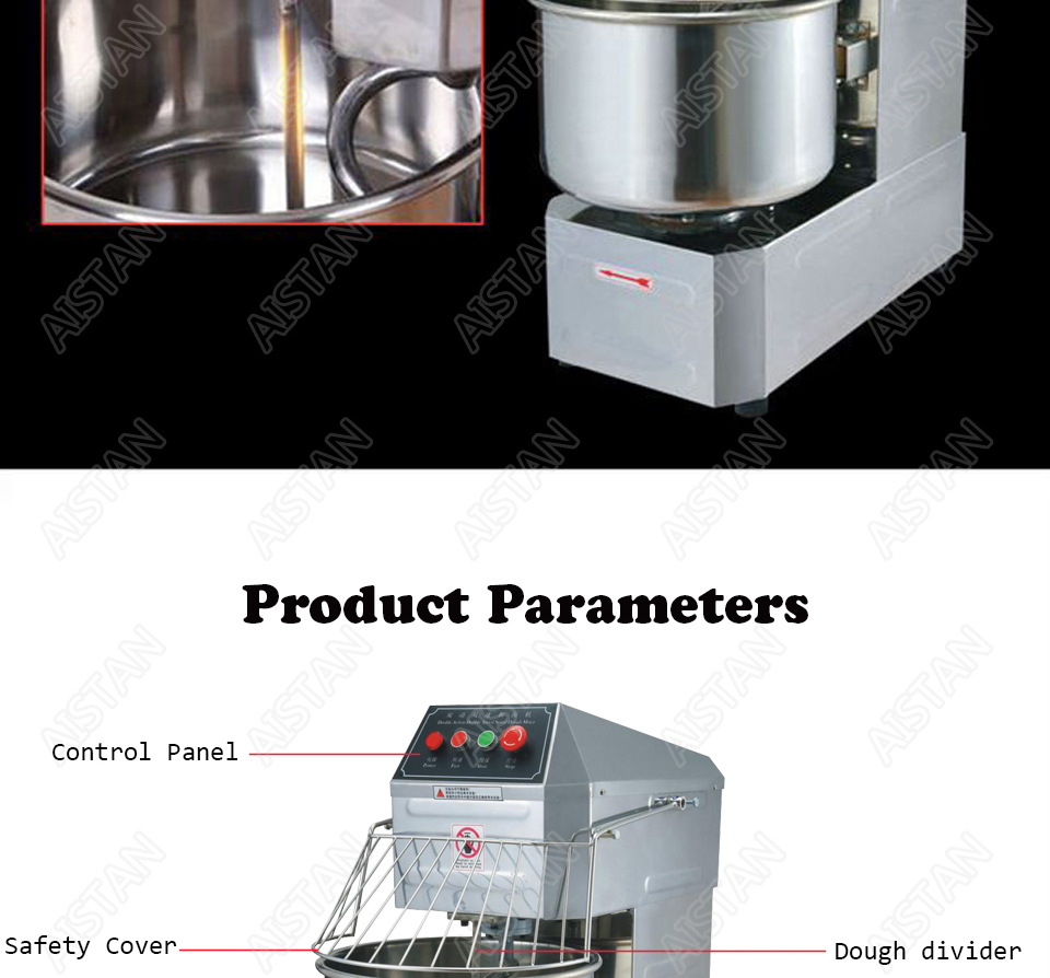 SSD20 20L/30L electric commercial 2-speed spiral dough mixer food mixer machine 8