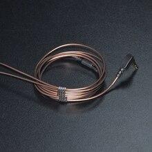 1.2 м позолоченные 3.5 мм 56 LC-OFC медный сердечник 3-полюсный разъем для наушников аудио кабель наушники обслуживания провод для KZ DIY наушники