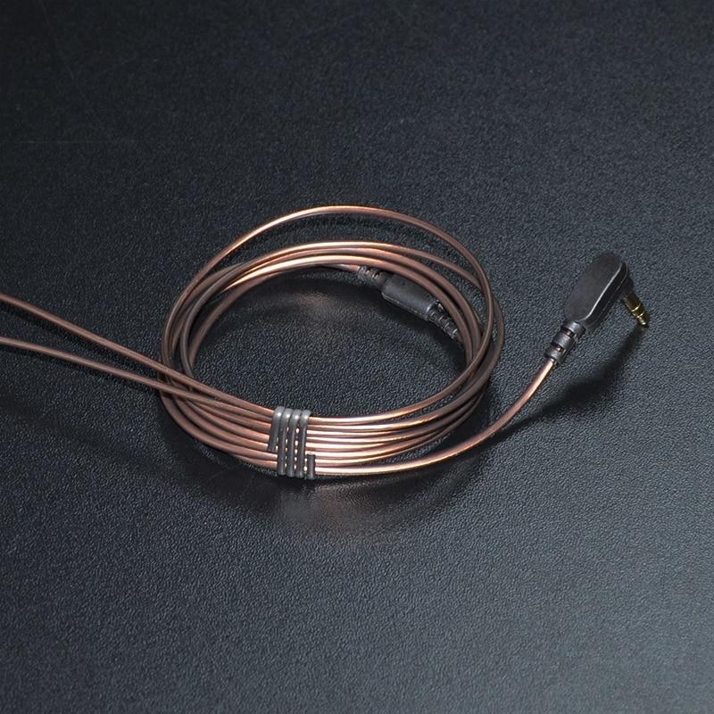 KZ 1.2m Gold-plated 3.5mm 56 LC-OFC Copper core 3-pole Jack Headphone Audio Cable Earphone Maintenance Wire For KZ DIY Earphones areyourshop sale 20pcs gold plated stereo 3 5mm 3 pole repair headphone jack plug cable audio adapte