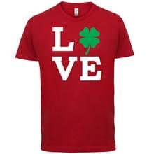 Clover Love - Womens / Ladies T-Shirt Funny Luck Lucky Paddy IrishPrint T Shirt Mens Short Sleeve Hot Fashion Classic