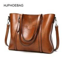 Hjphoebag新ファッションの女性のバッグショルダーバッグメッセンジャーバッグオイルワックス革の女性ハンドバッグトートバッグクロスボディバッグ女性のためのYC005トップハンドルバッグ