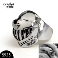 Male rings male fashion personality 925 silver opening ring thai silver Domineering death army boys cool silver accessories