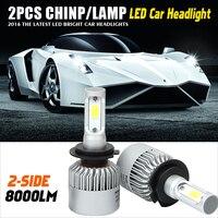 H4 H7 H13 H11 H1 9005 9006 COB LED Headlight 72W 8000LM All In One Car LED Headlights Bulb Head Lamp Fog Light Pure White 6500K