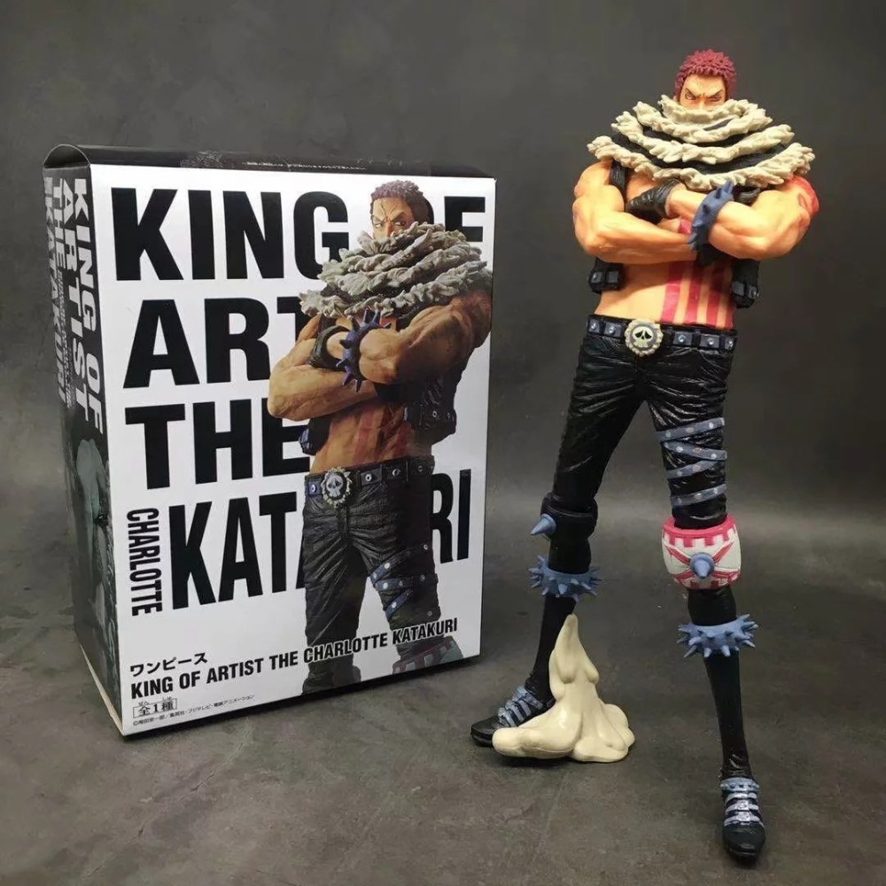 24cm big size <font><b>One</b></font> <font><b>piece</b></font> Charlotte <font><b>Katakuri</b></font> <font><b>figure</b></font> PVC Doll anime toys collection Cartoon for friend gift image