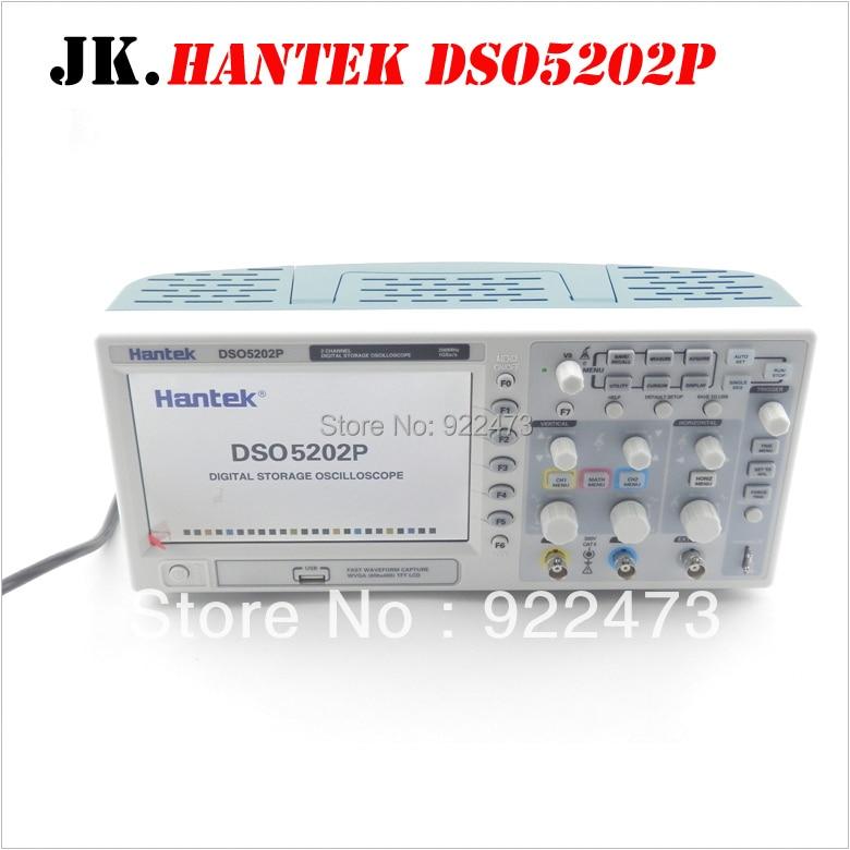 H005 Hantek DSO5202P oscilloscopio a memoria Digitale 200 mhz 2 Canali 1GSa/s 7 ''TFT LCD Lunghezza Record 24 k USB AC110-220V
