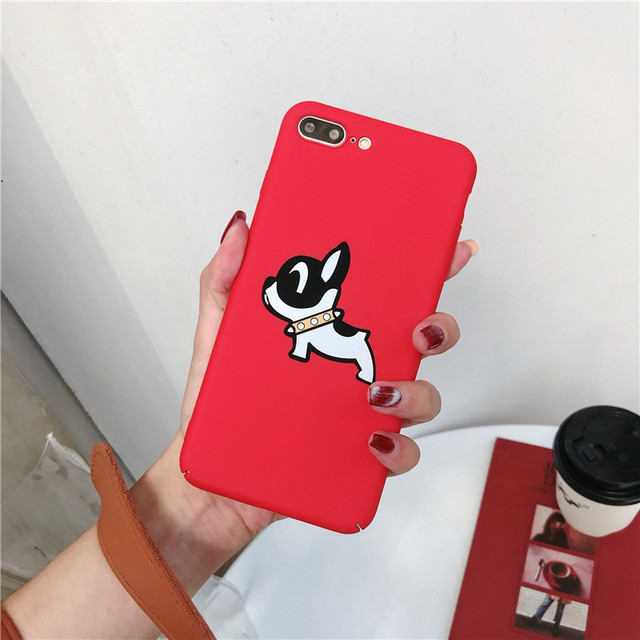 Cute French Bulldog Red Phone Cases For iPhone
