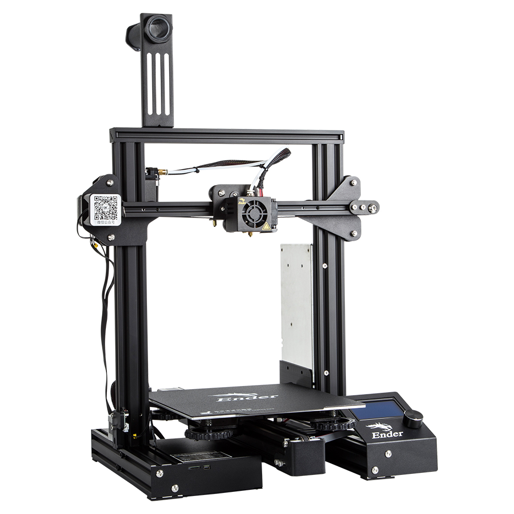 Image 3 - CREALITY Ender 3 Pro Vision ADD Glass Build Plate 3D Printer V slot Brand Power Supply Printer With Power off Resume Print-in 3D Printers from Computer & Office