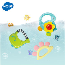 HOLA 1109 Baby Rattles Toys Newborn Hand Bells Baby Toys 0-12 Months Teething Safe Development Infant Early Educational(China)