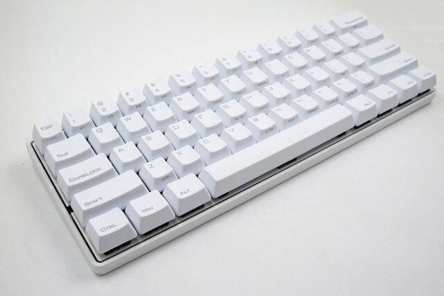 f4be0954be1 white case Vortex POKER3 metal case KBC poker 3 pok3r programmable mechanical  keyboard cherry mx switch gaming keyboard PBT