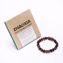 Baltic Amber Teething Bracelet for Baby(Cherry Raw) - Handmade in Lithuania - Lab-Tested Authentic - 2 Sizes raw baltic amber teething necklace for baby lemon raw unpolished handmade in lithuania lab tested authentic 3 sizes