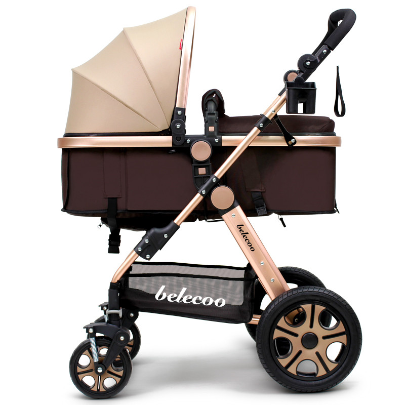 2017 belecoo  Baby Stroller 9 Free Gifts 2 In 1 High Landscape Cart Can Sit Lying Fold Four Two-way Shock Absorber high profile baby trolley ultra light can be lying down two way four wheel shock baby trolley