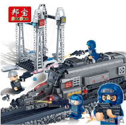Banbao 6208 Super Police energy center 385 pcs Plastic Building Block Sets Educational DIY Bricks Toys for children