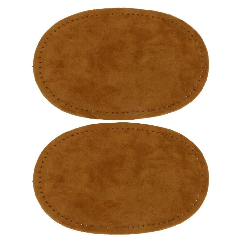 Подлинная кожа замши патч с булавкой поделки овальный мягкий кожаный лист для кардиган одежда  √