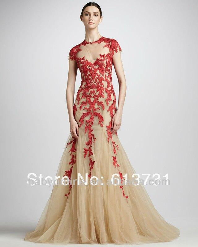 2013 Elie Saab Dresses For Sale Designer Nude Applique Short ...