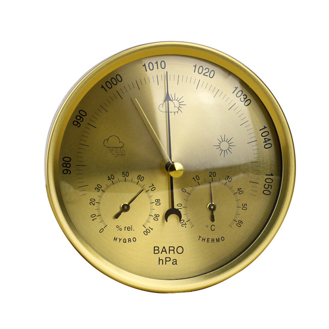 Precision Aneroid 3 In 1 Weather Station Barometer Thermometer Hygrometer For Indoor And Outdoor Use With