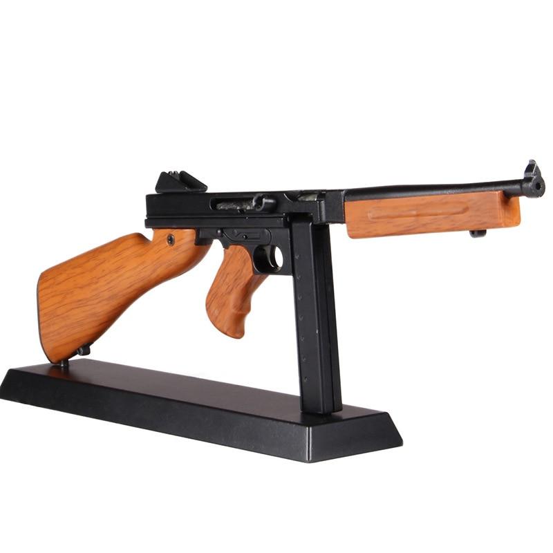 1: 4 Metal Toy Gun Legetøj Sniper Rifle Thomson Model kids Collection gave DIY pistol model statisk dekoration Removable kan ikke skyde