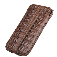 Genuine Crocodile Leather Case For Samsung Galaxy Note 8 Luxury Original Mobile Phone Holster Pouch Bag