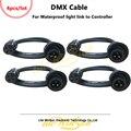 Litewinsune 4 pièces 3Pin XLR DMX512 Câble de Signal pour LED étanche Éclairage Reliant Contrôleur