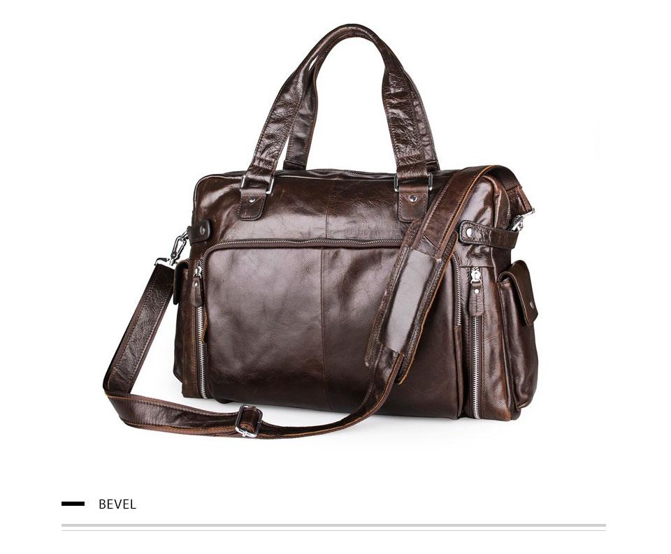 4ee840f76e DALFR Genuine Leather Shoulder Bag Men 22 Inch Handbags Cowhide Crossbody  Bags for Men Big Casual Messenger Bags
