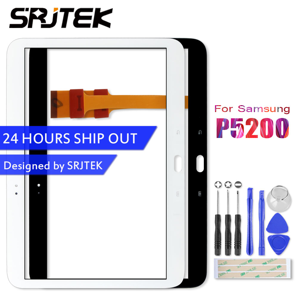 Srjtek P5200 Touch Panel For Samsung Galaxy Tab 3 10.1 P5200 P5210 Touch Screen Digitizer Panel Sensor Glass Replacement Parts original for samsung galaxy tab 3 p5200 p5210 lcd display panel touch screen digitizer assembly